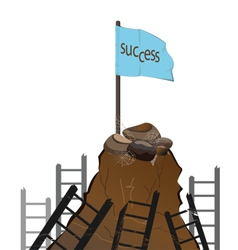 clamb to success vector image
