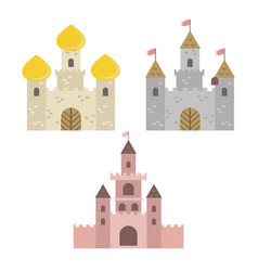 collection of medieval castles collection of vector image