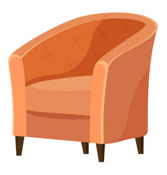 Contemporary soft seat for coffeehouse vector