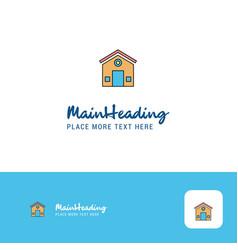 creative house logo design flat color logo place vector image