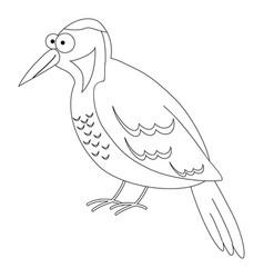 Cute cartoon woodpecker vector