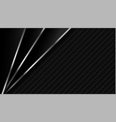 Dark carbon fiber with metallic lines background vector
