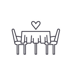 date in the restaurant line icon concept date in vector image