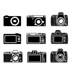Different type camera icons vector