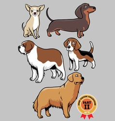 dogs collection part 2 vector image vector image