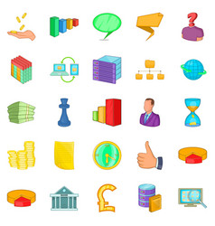 Employee search icons set cartoon style vector