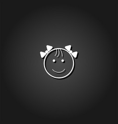 Fanny baby icon flat vector