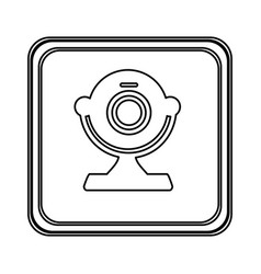 figure emblem computer camera icon vector image