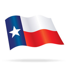 Flying waving texas state flag vector