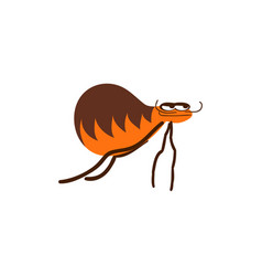 funny flea cartoon vector image