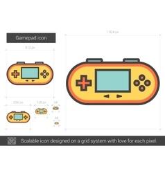 Gamepad line icon vector