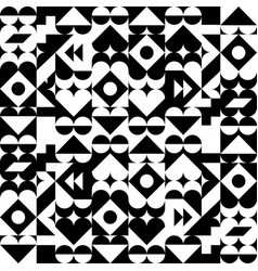 Geometric abstract pattern black and white vector