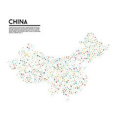 geometric simple minimalistic style china map vector image