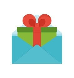 gift in envelope vector image