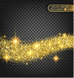 gold sparkles on a transparent background gold vector image