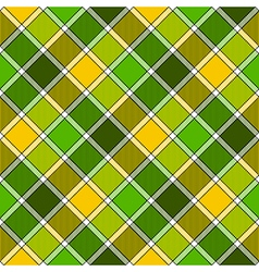 Green yellow diagonal check plaid seamless pattern vector
