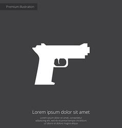 gun premium icon vector image vector image