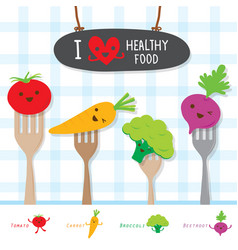 healthy food vegetable diet eat useful vitamin car vector image