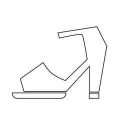 High heel shoe with ankle strap icon vector