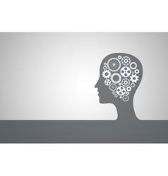 Human head bl vector image vector image