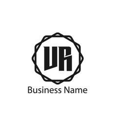 initial letter vr logo template design vector image