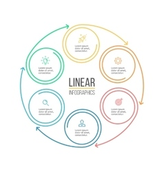 Linear infographis Minimalistic chart diagram vector image