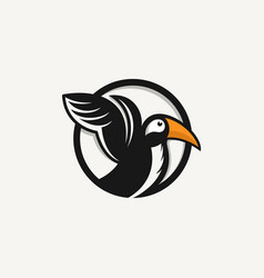 logo bird icon line art picture vector image