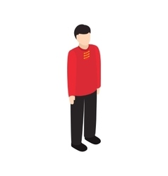Male singaporean icon isometric 3d style vector image