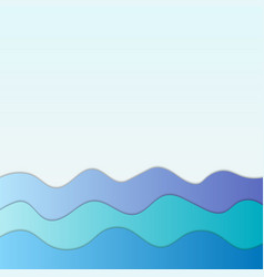 marine blue waves abstract background for design vector image