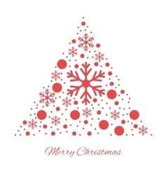 Merry christmas triangular ornament vector image