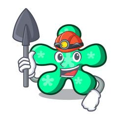 miner free form mascot cartoon vector image