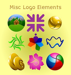 miscellaneous logo elements vector image vector image