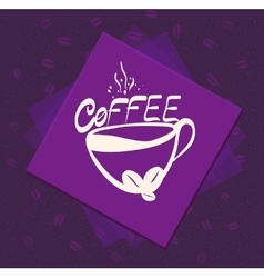 morning cup coffee on color background vintage vector image