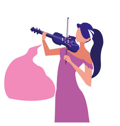 Musician playing instrument vector