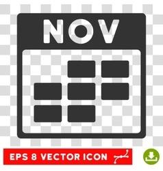 November Calendar Grid Eps Icon vector