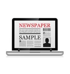 Online newspaper vector