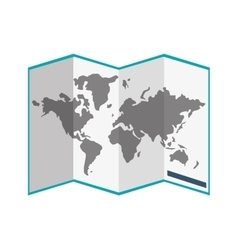 paper world map icon vector image