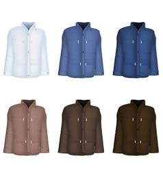 Plain long sleeve jacket template vector