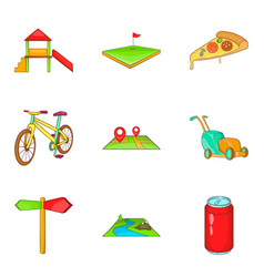 pointer icons set cartoon style vector image