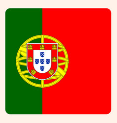 Portugal square flag button social media vector