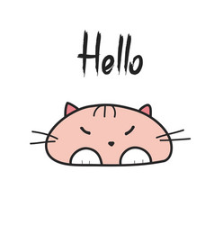 print with funny cat vector image