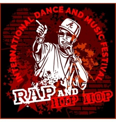 Rap hip hop graffiti - poster vector