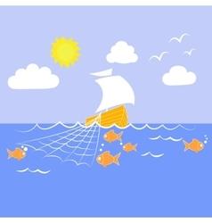Sailfish fishing nets vector