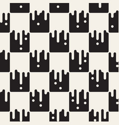 Seamless pattern with geometric spots monochrome vector