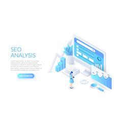 seo analysis design concept isometric vector image