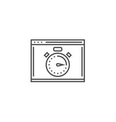 seo performance line icon vector image
