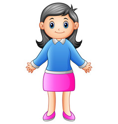 smiling mother waving hand vector image