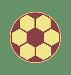 Soccer ball sign cordovan icon and mellow vector