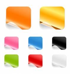 Square stickers vector