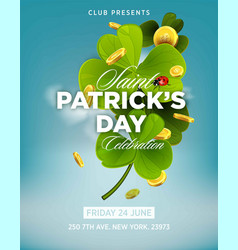 st patrick s day green beer party invitation vector image vector image